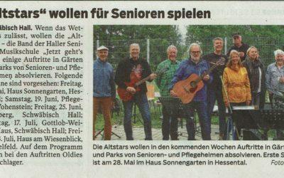 """""""Altstars"""" wollen für Senioren spielen"""